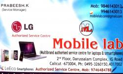 MOBILE LAB, MOBILE SERVICE CENTER,  service in Kozhikode Town, Kozhikode