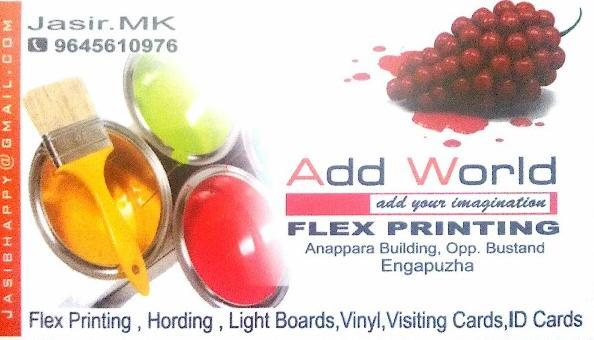 ADD WORLD, PRINTERS,  service in Engapuzha, Kozhikode