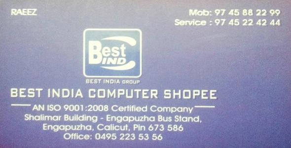 BEST INDIA COMPUTER SHOPEE, LAPTOP & COMPUTER SERVICES,  service in Engapuzha, Kozhikode