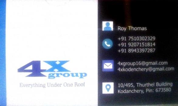 4X GROUP, ELECTRONICS,  service in Kondenchery, Kozhikode