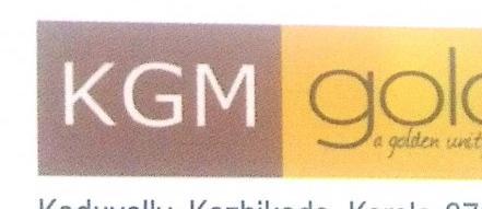 KGM GOLD, JEWELLERY,  service in Koduvally, Kozhikode