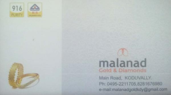 MALANAD Gold And Diamonds, JEWELLERY,  service in Koduvally, Kozhikode
