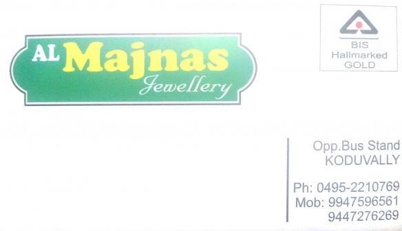 MAJNAS JEWELLERY, JEWELLERY,  service in Koduvally, Kozhikode