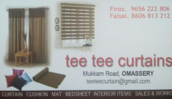 tee tee curtains, CURTAINS,  service in Omassery, Kozhikode