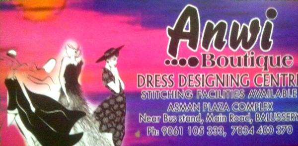 ANWI, BOUTIQUE,  service in Balussery, Kozhikode