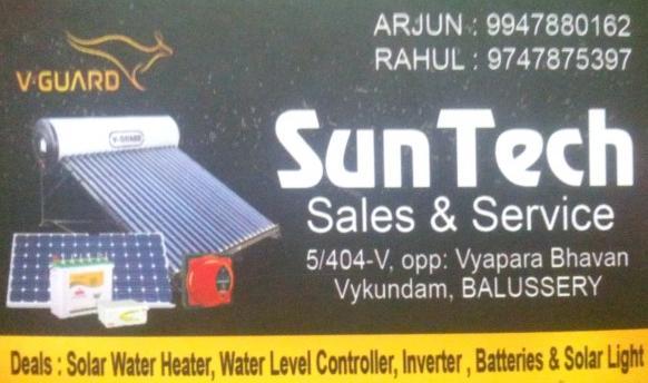 SUN TECH, SOLAR,  service in Balussery, Kozhikode