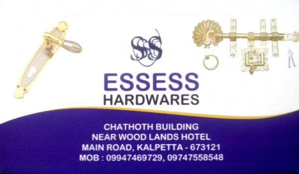 ESSESS HARDWARES, HARDWARE SHOP,  service in Kalpetta, Wayanad