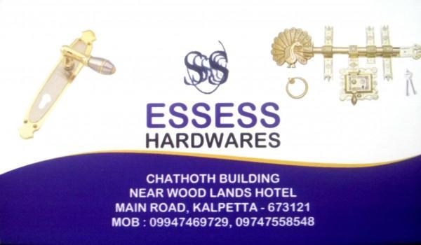 ESSESS HARDWARES, HARDWARE SHOP,  service in Kalpetta, Wayanad