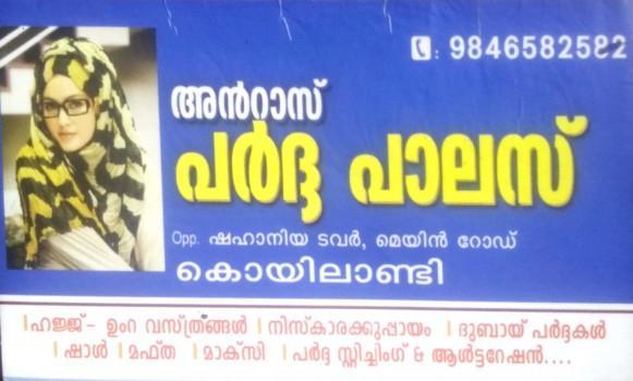 ANRAZ PARDA PALACE, TEXTILES,  service in Koylandy, Kozhikode