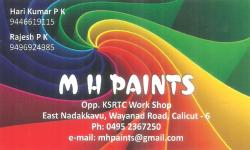 M H PAINTS, PAINT SHOP,  service in Nadakkavu, Kozhikode