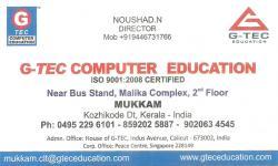 G-TEC COMPUTER EDUCATION, COMPUTER TRAINING,  service in Mukkam, Kozhikode