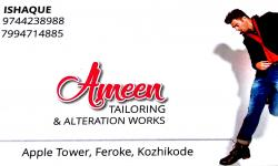 AMEEN TAILORING & ALTERATION WORKS, TAILORS,  service in Farook, Kozhikode