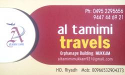 AL TAMIMI TRAVELS, TOURS & TRAVELS,  service in Mukkam, Kozhikode