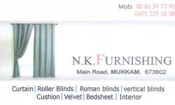 N.K.FURNISHING, CURTAINS,  service in Mukkam, Kozhikode