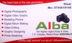 ALBA, STUDIO & VIDEO EDITING,  service in Koduvally, Kozhikode