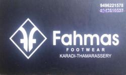 FAHMAS, FOOTWEAR SHOP,  service in Thamarassery, Kozhikode