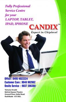 CANDIX, LAPTOP & COMPUTER SERVICES,  service in Kozhikode Town, Kozhikode