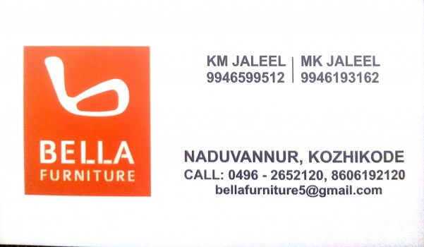 BELLA FURNITURE, FURNITURE SHOP,  service in Naduvannur, Kozhikode