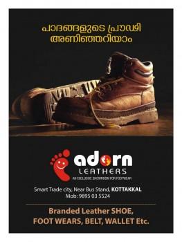 ADORN LEATHERS, FOOTWEAR SHOP,  service in Kottakkal, Malappuram