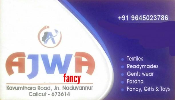 AJWA FANCY, FANCY & COSTUMES,  service in Naduvannur, Kozhikode