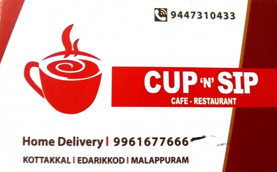 CUP N SIP, COFFEE SHOP,  service in Kottakkal, Malappuram