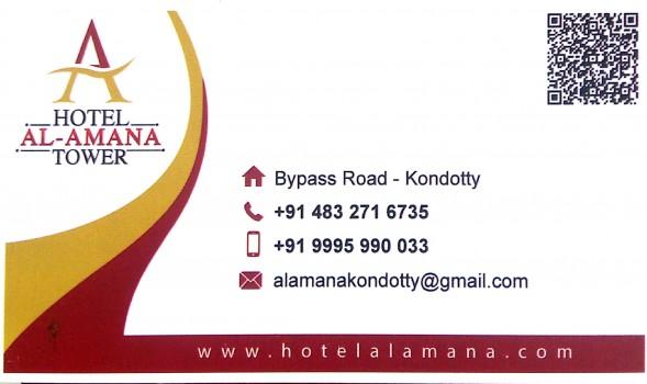 AL  AMANA TOWER, TOURIST HOME,  service in Kondotty, Malappuram