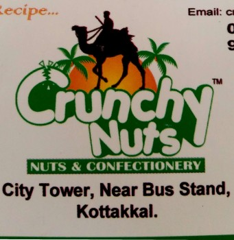 CRUNCHY NUTS, DRY FRUITS & CHOCOLATE,  service in Kottakkal, Malappuram