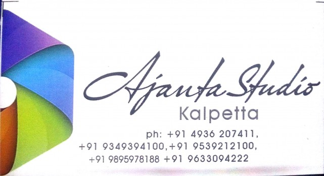 AJANTA STUDIO, STUDIO & VIDEO EDITING,  service in Kalpetta, Wayanad