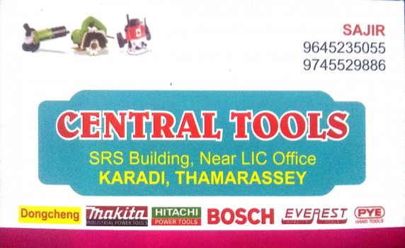 CENTRAL TOOLS, TOOLS,  service in Thamarassery, Kozhikode