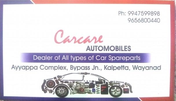 CARCARE, LUBES AND SPARE PARTS,  service in Kalpetta, Wayanad