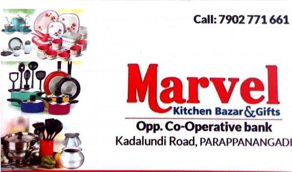 MARVEL, CROCKERY SHOP,  service in Parappanangadi, Malappuram