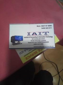 IAIT, COMPUTER TRAINING,  service in Parappanangadi, Malappuram