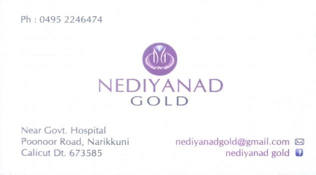 NEDIYANAD GOLD, JEWELLERY,  service in Narikkuni, Kozhikode