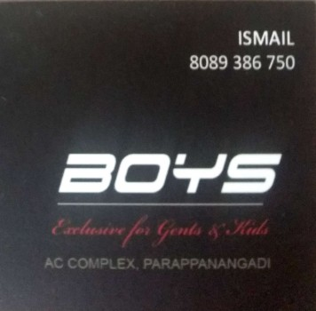 BOYS, GENTS WEAR,  service in Parappanangadi, Malappuram