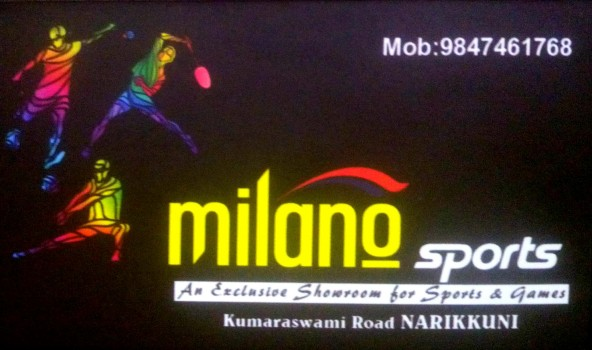 MILANO SPORTS, SPORTS,  service in Narikkuni, Kozhikode