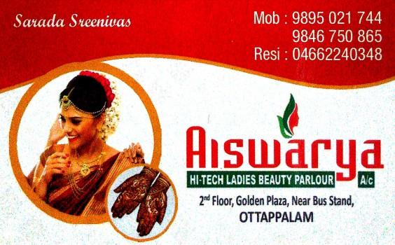 AISWARYA, BEAUTY PARLOUR,  service in Ottappalam, Palakkad