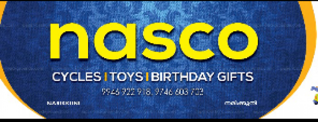 NASCO CYCLES TOYS and BIRTHDAYGIFTS, CYCLE SHOP,  service in Narikkuni, Kozhikode