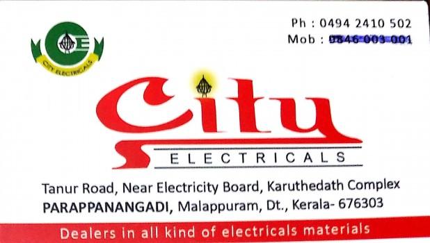 CITY ELECTRICALS, ELECTRICAL / PLUMBING / PUMP SETS,  service in Parappanangadi, Malappuram