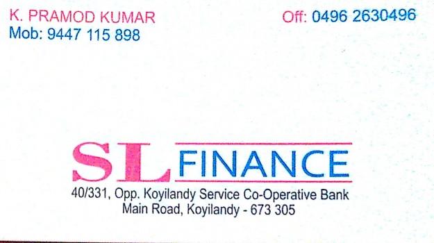S L FINANCE, FINANCE,  service in ,