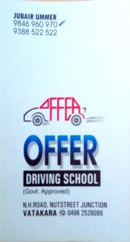 OFFER DRIVING SCHOOL, DRIVING SCHOOL,  service in Vadakara, Kozhikode