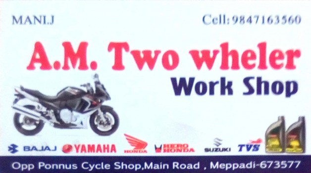 AM TWO WHELER WORK SHOP, BIKE WORKSHOP,  service in Mepaadi, Wayanad
