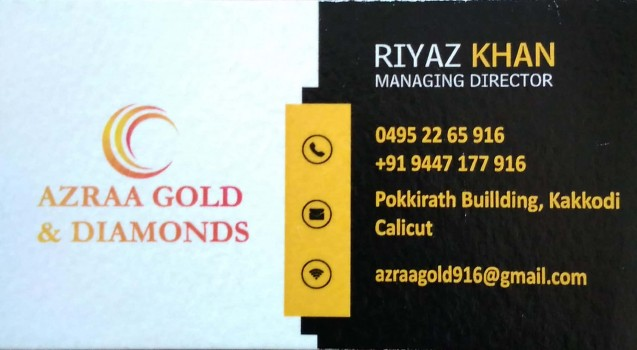 AZRAA  GOLD AND DIAMONDS, JEWELLERY,  service in Kakkodi, Kozhikode