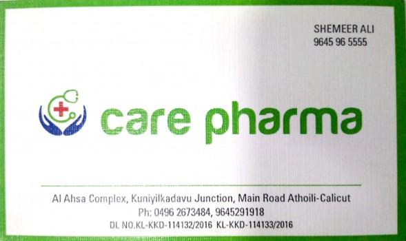 CARE PHARMA, MEDICAL SHOP,  service in Atholi, Kozhikode