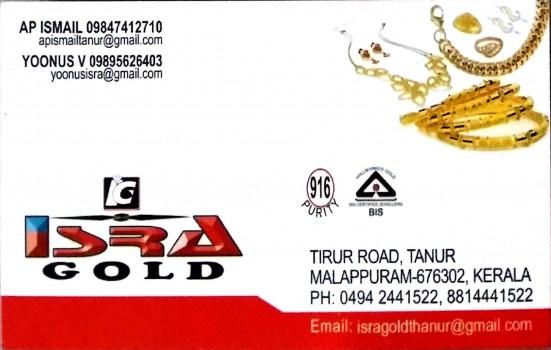 ISRA GOLD, JEWELLERY,  service in Tanur, Malappuram