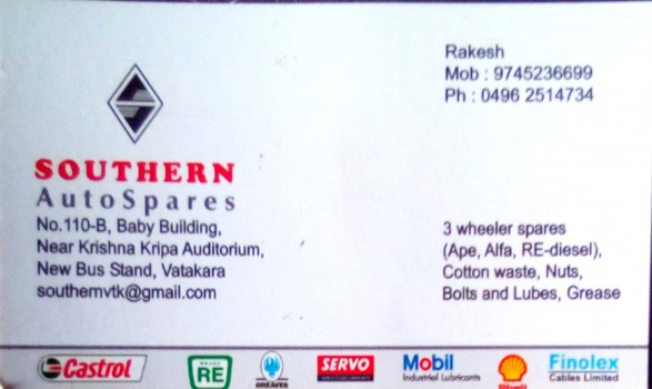 SOUTHERN AUTO SPARES, LUBES AND SPARE PARTS,  service in Vadakara, Kozhikode
