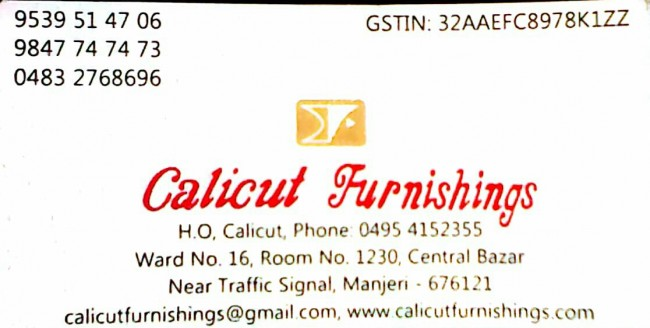 CALICUT FURNISHING, FURNITURE SHOP,  service in Manjeri, Malappuram