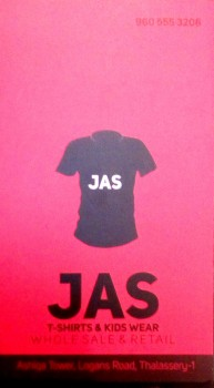 JAS T SHIRTS, WHOLESALE & RETAIL SHOP,  service in Thalassery, Kannur