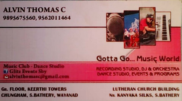 GOTTA GO  MUSIC WORLD, SOUND RECORDING STUDIO,  service in Sulthan Bathery, Wayanad