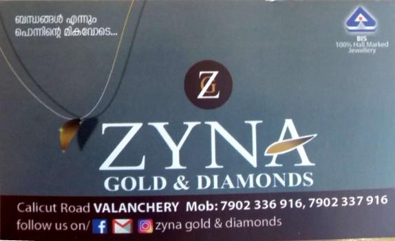 ZYNA GOLD AND DIAMOND, JEWELLERY,  service in Valanchery, Malappuram