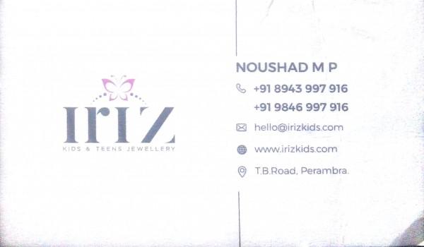 IRIZ, JEWELLERY,  service in perambra, Kozhikode